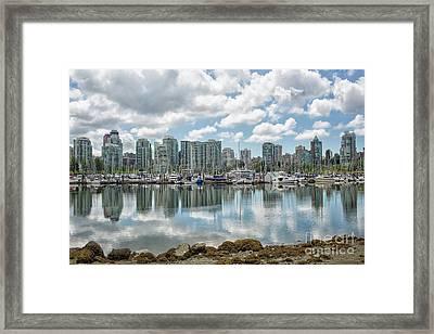 Vancouver Skyline Framed Print by Patricia Hofmeester