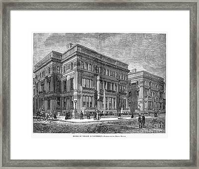 Vanderbilt Mansion Framed Print by Granger