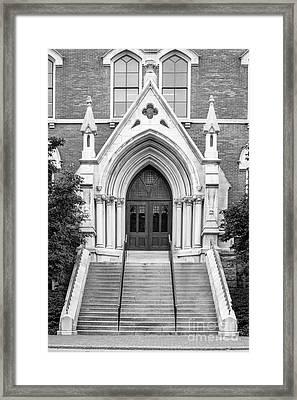 Vanderbilt University Kirkland Hall Entrance Framed Print by University Icons