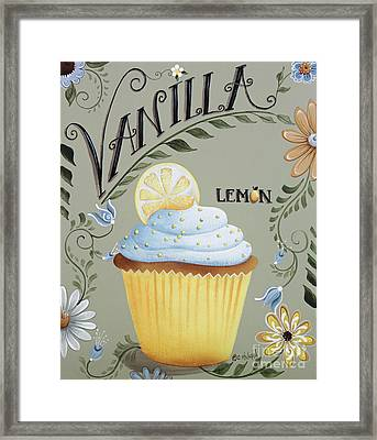 Vanilla Lemon Cupcake Framed Print by Catherine Holman