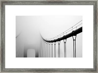 Vanishing Bridge Framed Print by Matt Hanson