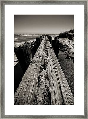 Vanishing Point Folly Beach Framed Print by Dustin K Ryan
