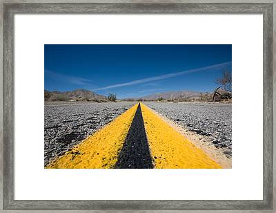 Vanishing Point Framed Print by Peter Tellone