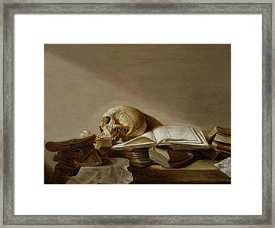 Vanitas Framed Print by Jan Davidsz de Heem