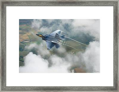 Vaping Raptor Framed Print by Peter Chilelli