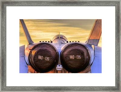 Vaq-135 Growler Framed Print by JC Findley