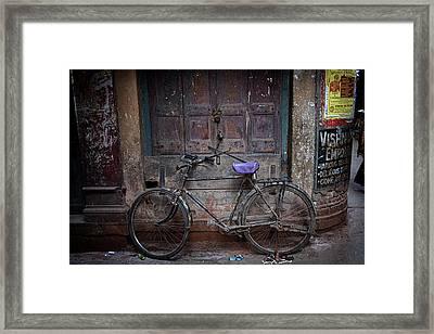 Varanasi Bicycle Framed Print by David Longstreath