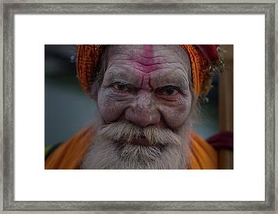 Varanasi Hoy Man 2 Framed Print by David Longstreath