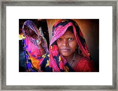 Varanasi Village Women Framed Print by David Longstreath