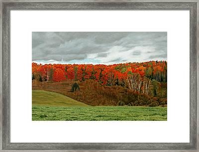 Vardy Settlement Colour Framed Print by Allan OMarra
