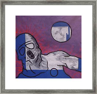 Variation In Blue Framed Print by Pierre Davis-Dutreix