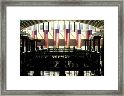 Variations On Old Glory No.8 Framed Print by John Pagliuca