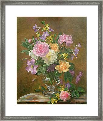 Vase Of Flowers Framed Print by Albert Williams