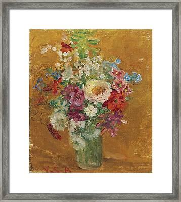 Vase Of Flowers Framed Print by MotionAge Designs