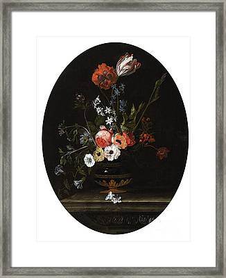 Vase Of Flowers Framed Print by Jacques Samuel
