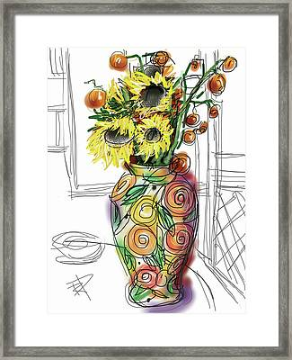 Vase Framed Print by Russell Pierce