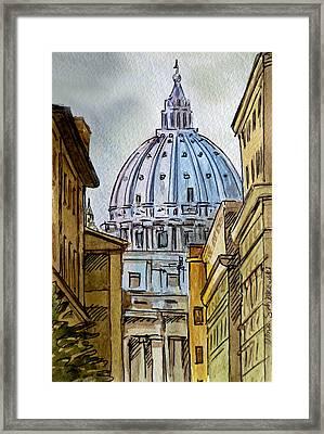 Vatican City Framed Print by Irina Sztukowski