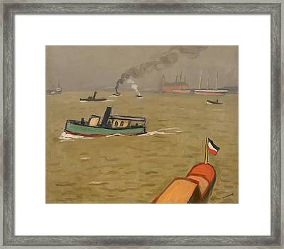 Vedette In Hamburg Framed Print by Mountain Dreams