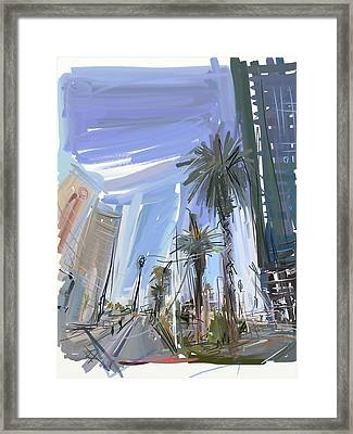 Vegas Baby Framed Print by Russell Pierce
