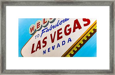 Vegas Tribute Framed Print by Slade Roberts