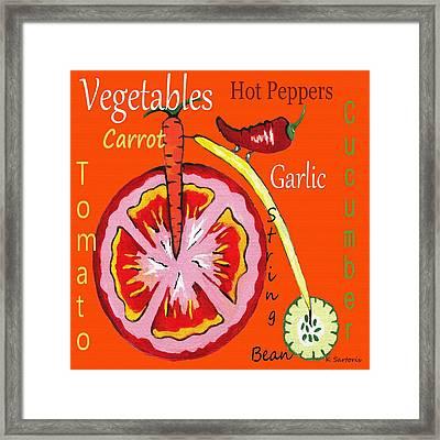 Vegetables Framed Print by Kathleen Sartoris