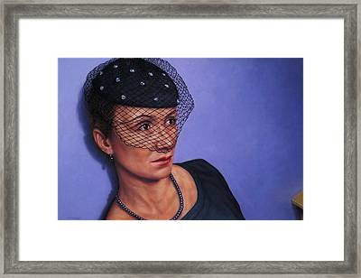 Veiled Framed Print by James W Johnson