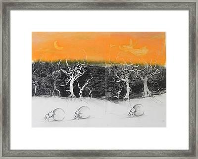 Veld Fire Framed Print by Ilona Petzer