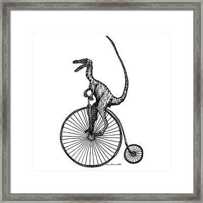 Velociraptor Framed Print by Karl Addison