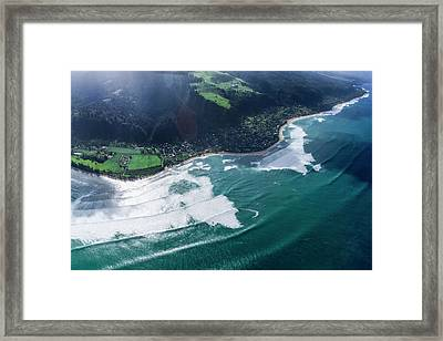Velzy Land And Sunset Point Framed Print by Sean Davey