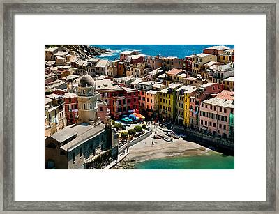 Venazza Cinque Terre Italy Framed Print by Xavier Cardell