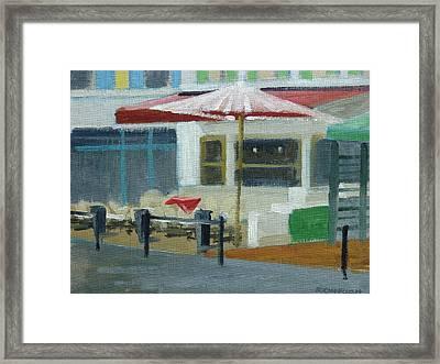 Vence Restaurant Framed Print by Robert Rohrich