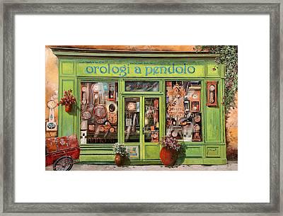Vendita Di Orologi A Dondolo Framed Print by Guido Borelli