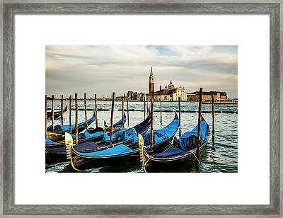 Venetian Gondolas Framed Print by Andrew Soundarajan
