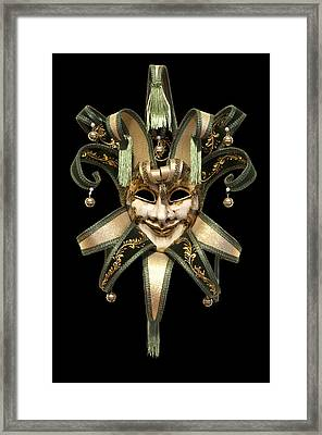 Venetian Mask Framed Print by Fabrizio Troiani