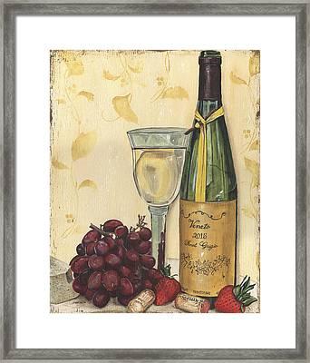 Veneto Pinot Grigio Framed Print by Debbie DeWitt