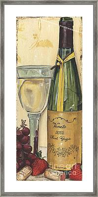Veneto Pinot Grigio Panel Framed Print by Debbie DeWitt