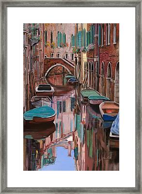Venezia A Colori Framed Print by Guido Borelli
