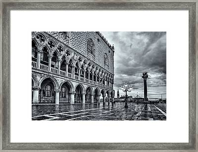 Venice After The Rain Framed Print by Andrew Soundarajan