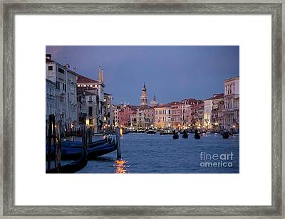 Venice Blue Hour 2 Framed Print by Heiko Koehrer-Wagner