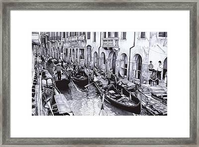 Venice Canal Framed Print by Andrey Poletaev