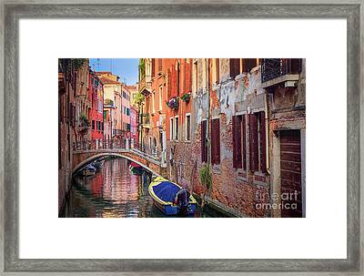 Venice Canal Framed Print by Inge Johnsson