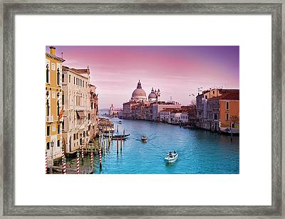 Venice Canale Grande Italy Framed Print by Dominic Kamp Photography