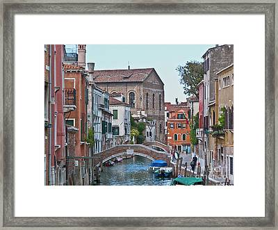 Venice Double Bridge Framed Print by Heiko Koehrer-Wagner