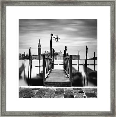Venice Gondolas IIi Framed Print by Nina Papiorek