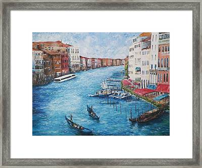 Venice Grand Canal Framed Print by Michael McGrath