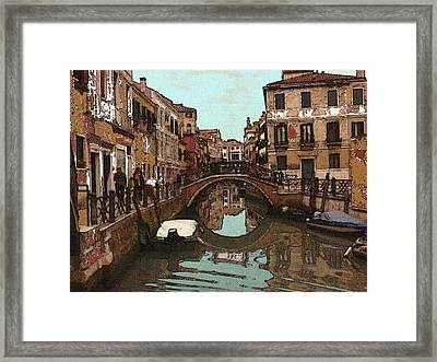 Venice Impression 14 - Oil Framed Print by Art America Online Gallery