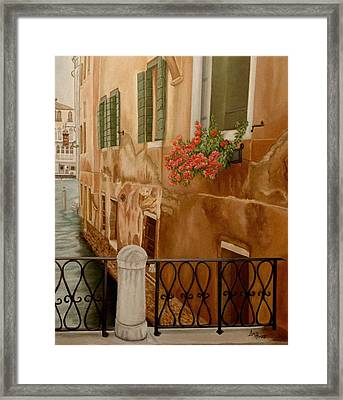 Venice In June Framed Print by Angeles M Pomata