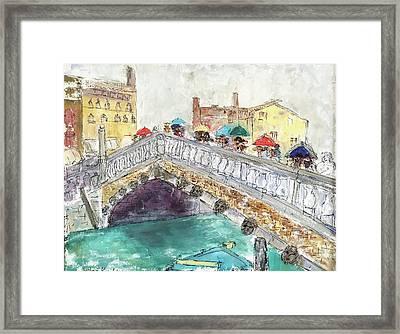Venice In The Rain Framed Print by Barbara Anna Knauf