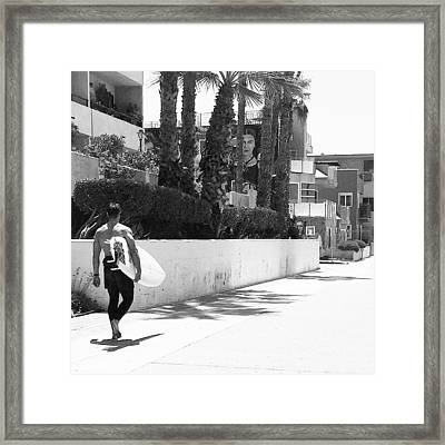 Oceanfront Walk Framed Print by Patricia Berger