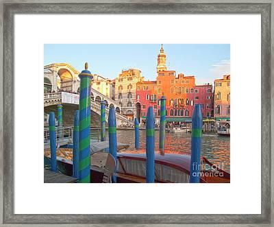 Venice Rialto Bridge Framed Print by Heiko Koehrer-Wagner